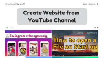 Create Website from YouTube Channel Without Any Coding