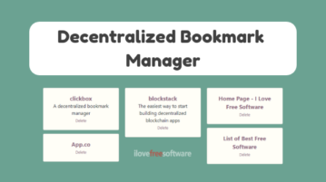 Store Encrypted Bookmarks with Free Decentralized Bookmark Manager