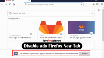 disable ads from new tab firefox