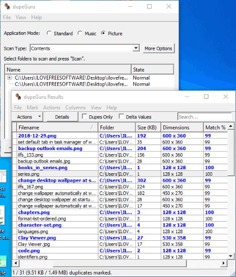 dupeGuru software