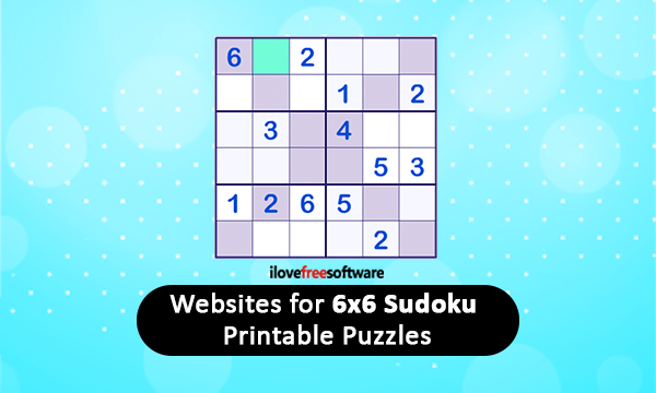 image about Printable Sudoku 6 Per Page identify 8 Internet websites for 6X6 Sudoku Printable Puzzles