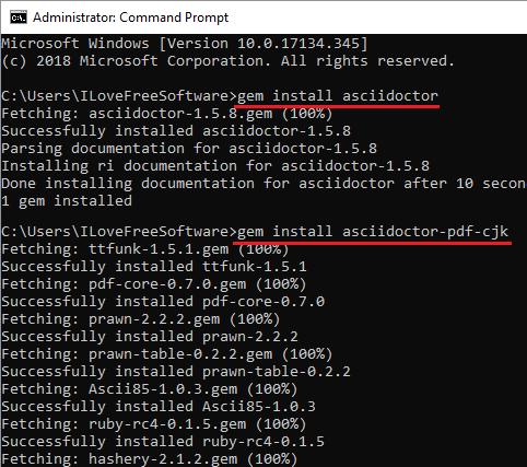 install setup asciidoctor