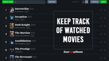 Keep Track of Movies Watched with these Free Websites