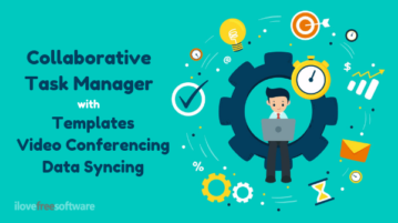 Online Task Manager with Templates, Video Conferencing, Data Syncing
