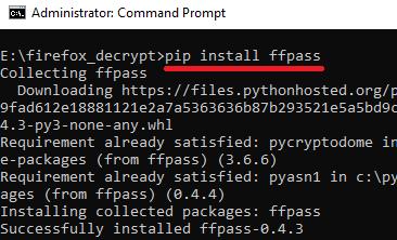 pip install ffpass