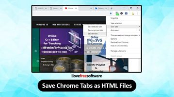 save chrome tabs as html files