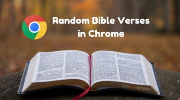 See Random Bible Verses in Chrome New Tab