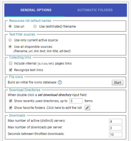select setting option to customize the extension
