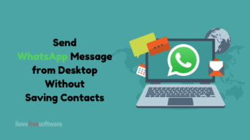 How to Send WhatsApp Message from Desktop Without Adding Contact