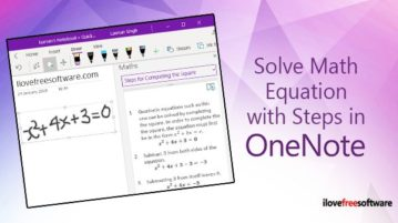 solve math equation with steps and read aloud steps in onenote