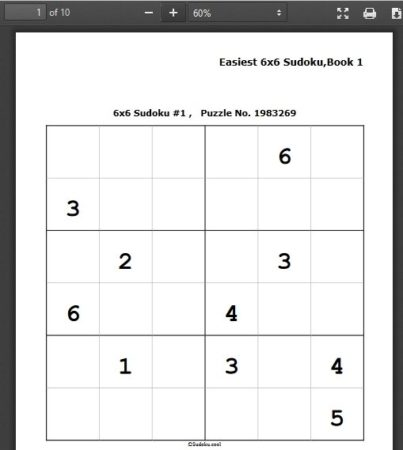 8 Websites for 6X6 Sudoku Printable Puzzles