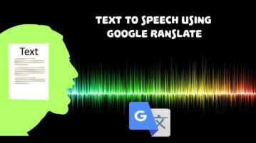 text to speech using google translate