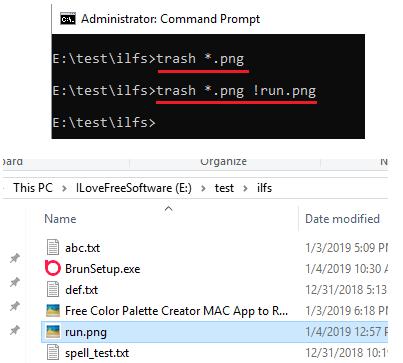 trash-cli delete multiple files and folders