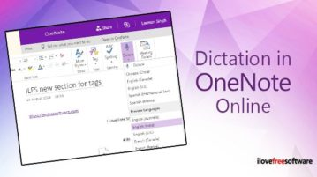 use dictation in onenote online