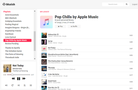 free web client for Apple Music