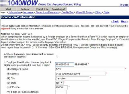 Website to File Tax Online for Free in 2019: 1040NOW NET