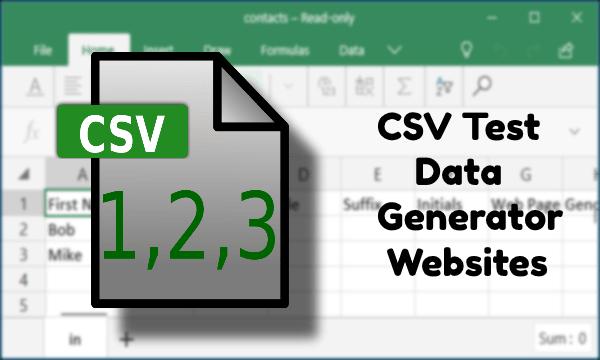 5 Online CSV Test Data Generator Websites Free