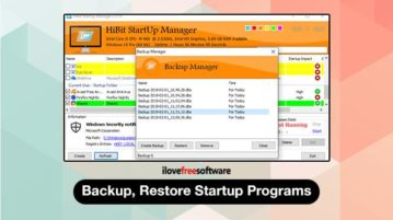 Backup, restore startup programs