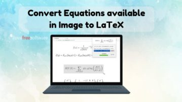 Convert Equation available in Image to LaTeX