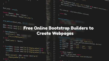 Free Online Bootstrap Builder to Create Webpages