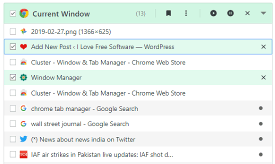 Manage Chrome windows and tabs