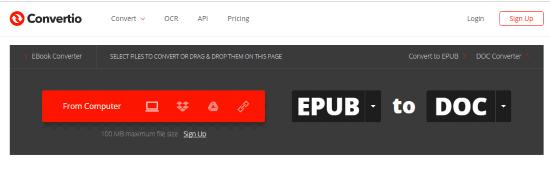 Online EPUB to WORD converter