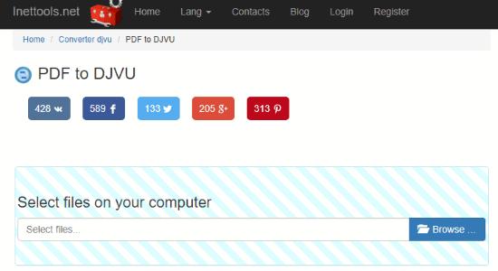 Online PDF to DJVU converter