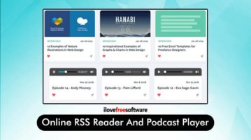 Online RSS reader and Podcast player