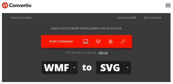 Online WMF to SVG converter
