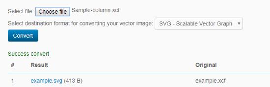 Online XCF to SVG converter