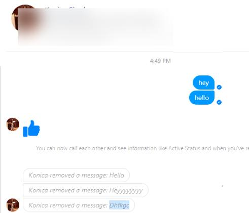 Read Deleted Messages From Facebook Messenger