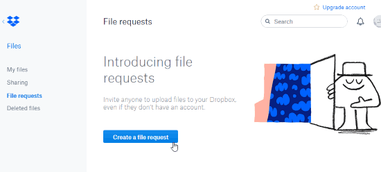 Request Files from Non-Dropbox Users