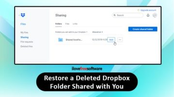 Restore a deleted Dropbox folder shared with you