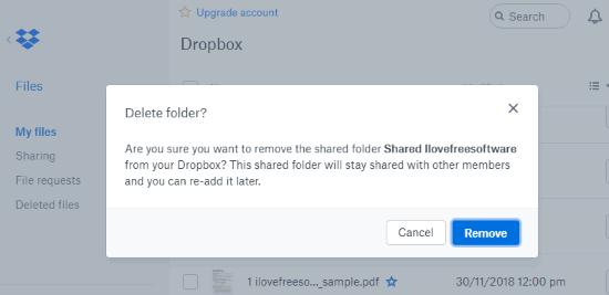 Restore a deleted Dropbox folder