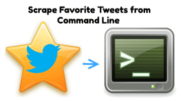 Scrape Favorite Tweets of any Twitter User from Command Line
