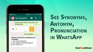 See synonyms, antonym, pronunciation in WhatsApp
