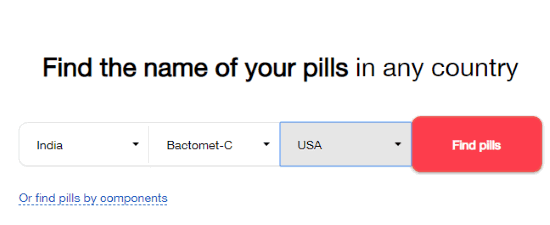 Select the country and the pill name