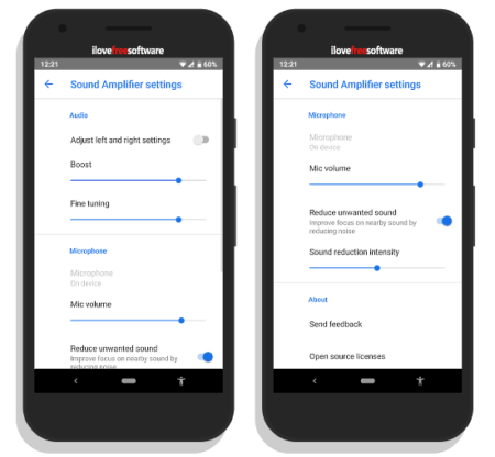 Sound Amplifier App by Google for Hearing Impaired