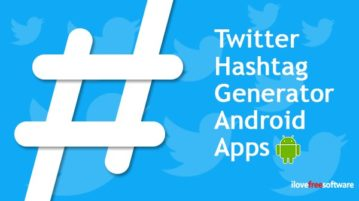 Twitter hashtag generator Android apps