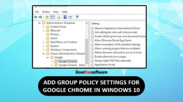 add group policy settings for chrome in windows 10