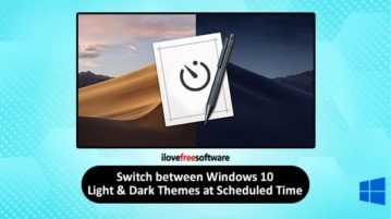 automatically switch between light and dark themes in windows 10