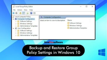 backup and restore windows 10 local group policy settings