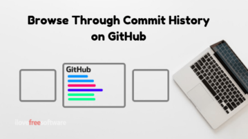 How To Browse Through Commit History on GitHub