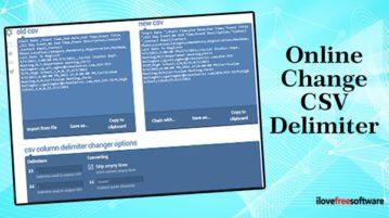 change csv delimiter