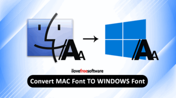convert mac font to windows font