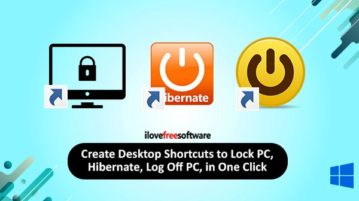 create desktop shortcuts to lock pc, hibernate, switch user, etc