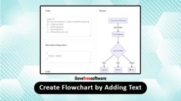 create flowchart by adding text