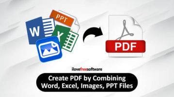 create pdf by combining word, images, html files