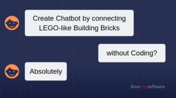 Create Chatbot without Coding by Joining LEGO-Like Building Blocks