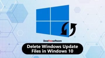 delete update files in windows 10